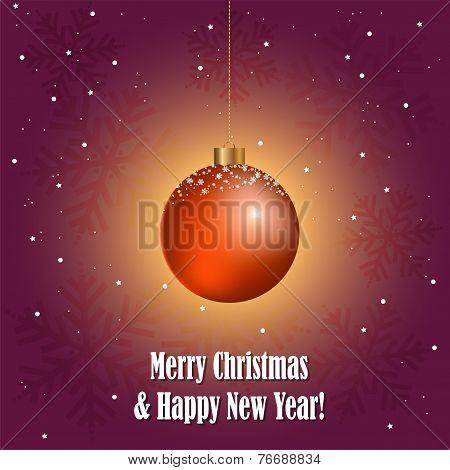 Vector Christmas  Decorative Ball