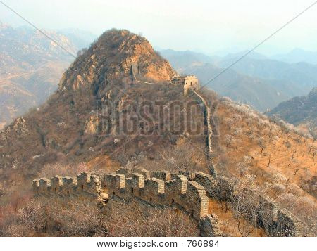 Crumbling Portion of the Ancient Great Wall of China