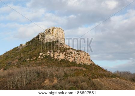 Rock of Solutre in Burgundy