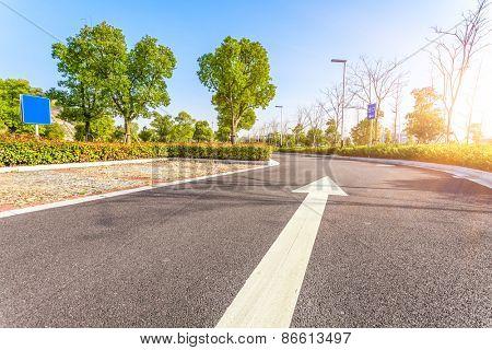 Outdoor parking road