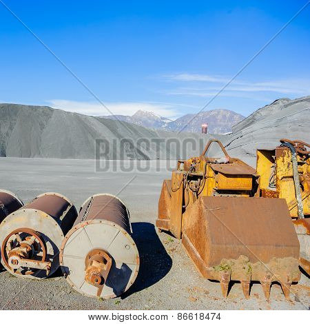 Industrial Tools Various And  Hill Of Ferrous Material For Metal Foundry