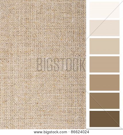 linen hessian fabric color chart complimentary card