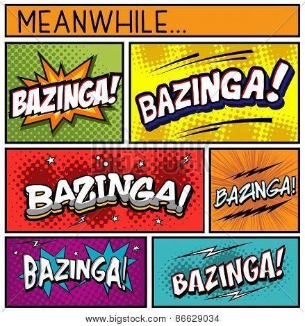 Comic Book Collection-BAZINGA
