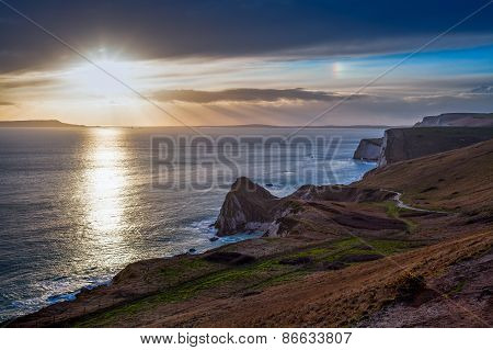 Dorset Coast Sunset