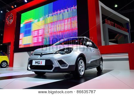 Bangkok - March 26 : Mg 3 Hatchback Car, Adventure Edition, With 1500 Cc Vti Engine On Display At 36