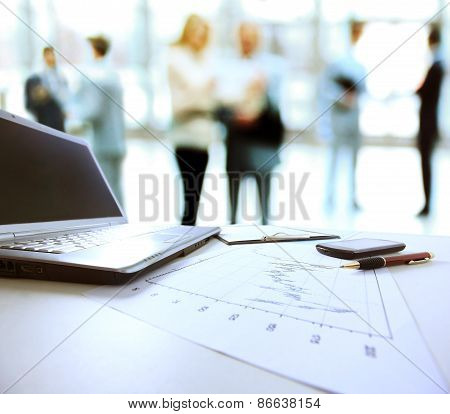 Graphs charts business table.