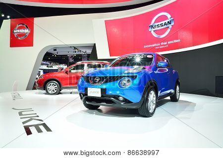 Bangkok - March 26 : Nissan Juke, Cross Over Suv, On Display At 36Th Bangkok International Motor Sho