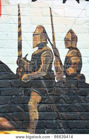 Street art Montreal cavaliers