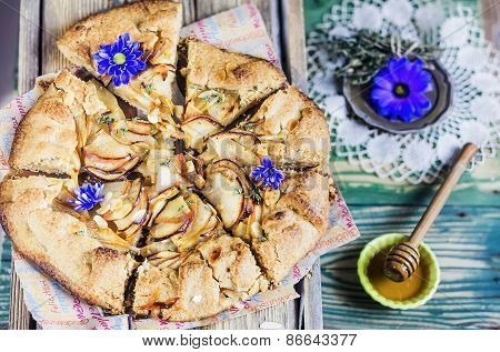 Galette with apple