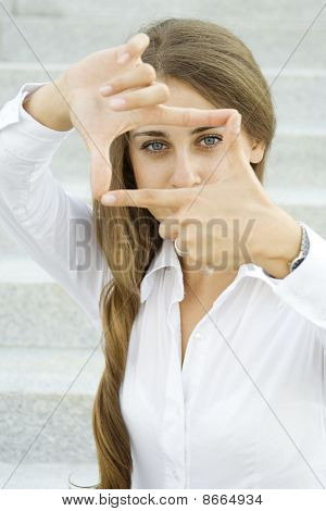 Looking through frame