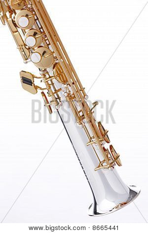 Soprano Saxophone Isolated On White