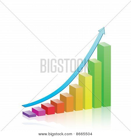Vector Growth & Progress Bar Chart
