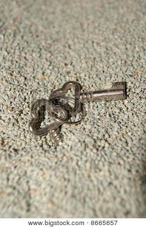 Key and sand