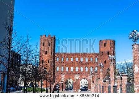 The Palatine Towers in Turin