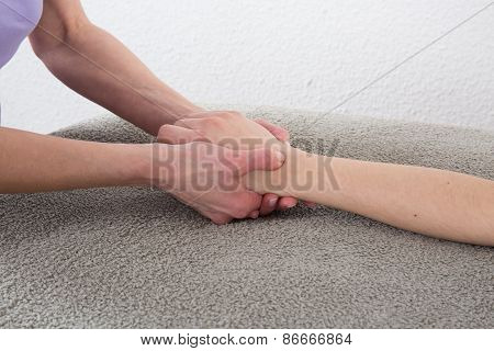 Hand Massage At The Spa Salon - Shiatsu Massage