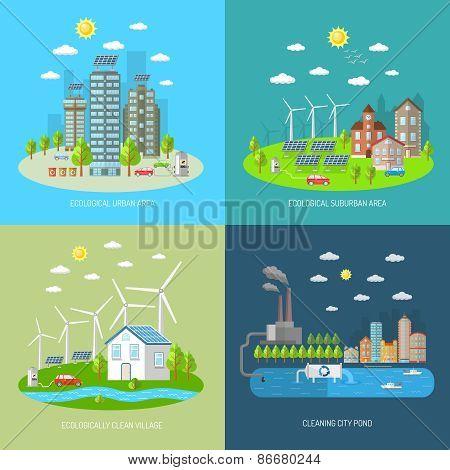 Eco City Design Concept Set