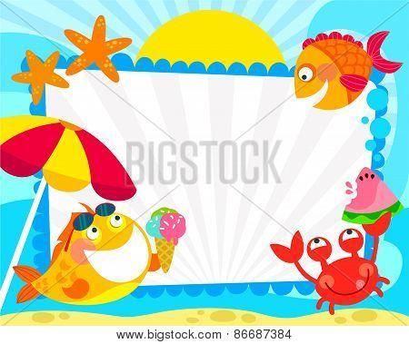 summer sea frame