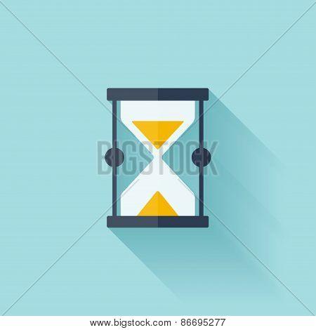 Sand clock flat icon