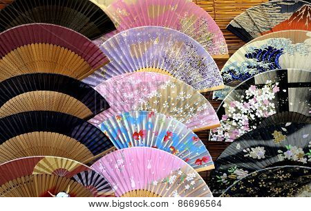 Set Of Japanese Folding Fans