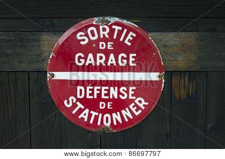 Sortie de Garage