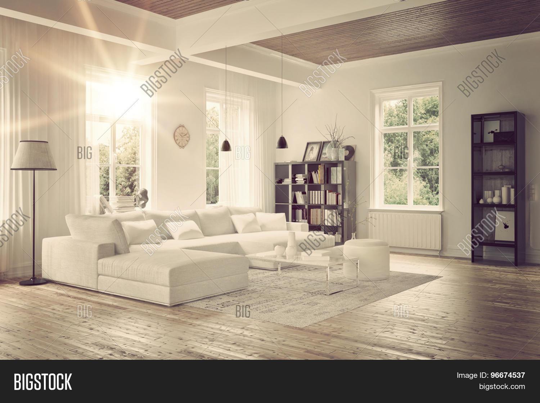 Modern Loft Living Room Interior Image & Photo | Bigstock