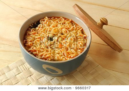 Noodle in bowl