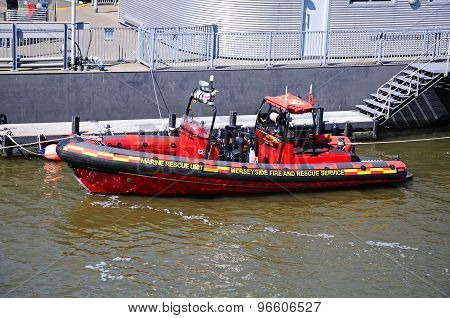 Fire and Rescue Boat, Liverpool.