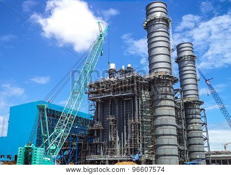 Construction phase of power plant