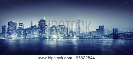 City Scape New York Buildings Travel Concept