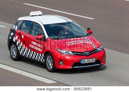 Toyota Auris Driving Image Photo Free Trial Bigstock