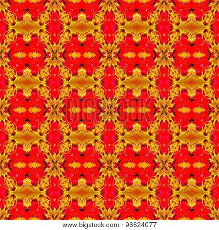 Seamless pattern ocher red