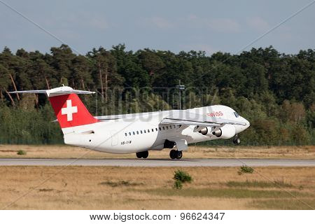 Swiss British Aerospace Avro Rj100