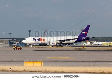 Fedex Express Aircraft In Frankfurt Main