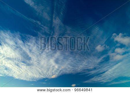 Cirrocumulus Clouds Natural Background