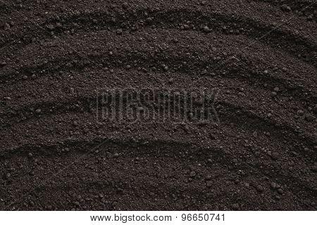 Black soil texture, background