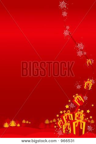 Red Christmas / New Year Background Illustration