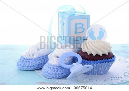 Its A Boy Blue Baby Shower Cupcakes