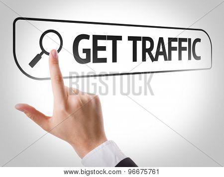 Get Traffic written in search bar on virtual screen