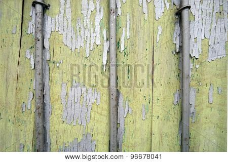 Wood With Old Cracked Paint