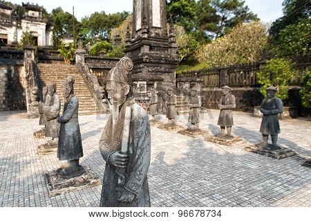 Tomb of Khai Dinh emperor in Hue Vietnam. A UNESCO World Heritage Site. poster