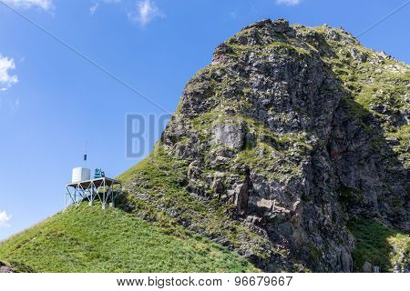 weather station on top of the ridge