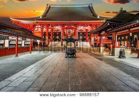 Senso-ji Temple (asakusa Kannon) In Tokyo, Japan