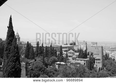 Alhambra In Black And White