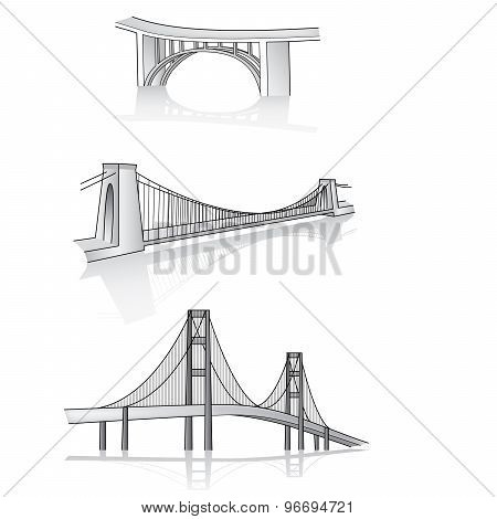 Vector Bridge 3D Illustration