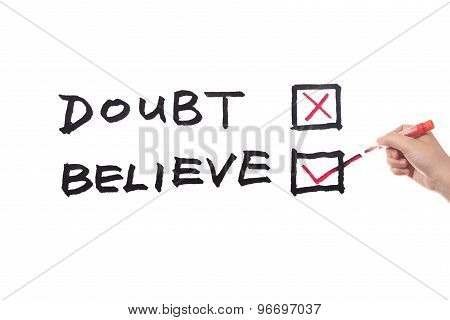 Doubt Or Believe Words