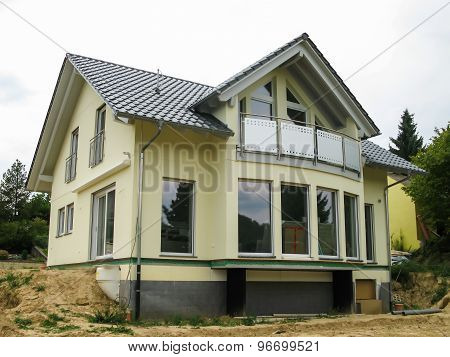 Modern Single-family House With Glass Front