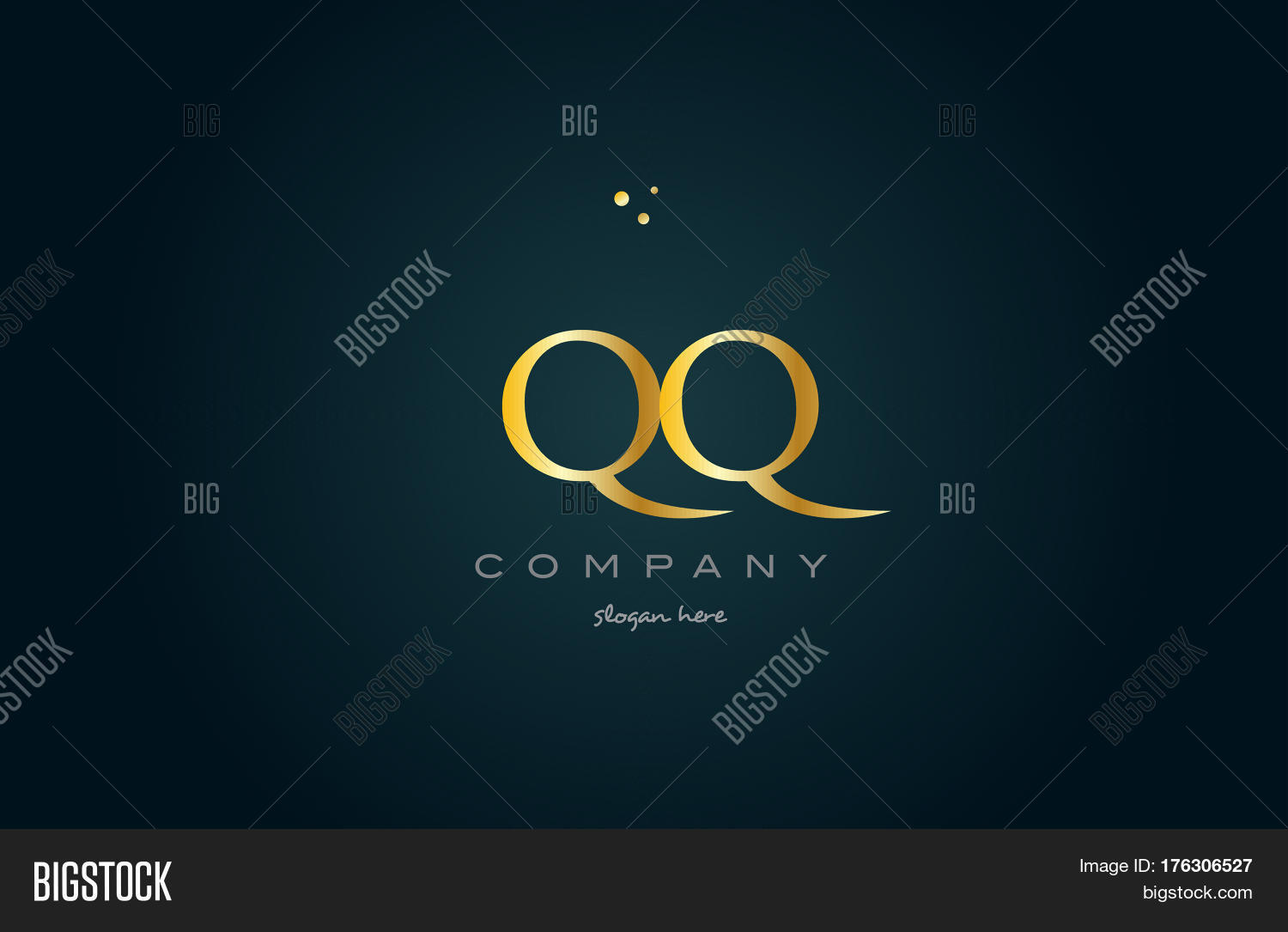 Qq Q Q Gold Golden Vector & Photo (Free Trial) | Bigstock
