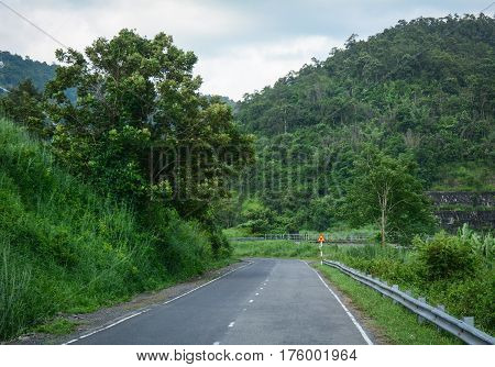 Mountain Road In Central Highlands Of Vietnam