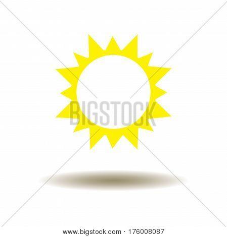 vector illustration of a yellow sun icon