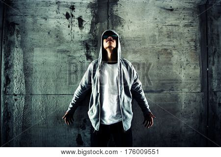 A stranger wearing hoodies, Movies or Book cover ideas